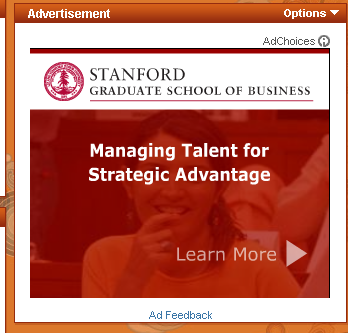 Stanford GSB: Home of Internet Founders, Not So Much Display Ad